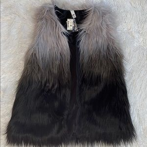 Ombré Faux Fur Vest NWT
